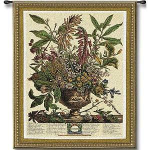 January Botanical Tapestry Wall Hanging
