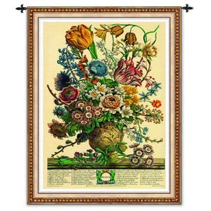 March Botanical Tapestry Wall Hanging