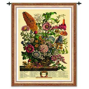 August Botanical Tapestry Wall Hanging