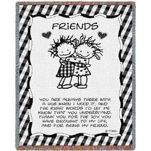 Friends Hugging Throw