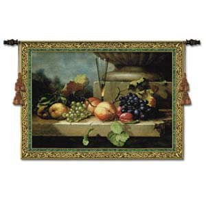 Grapes Of Venice Large Woven Wall Tapestry