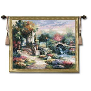 Classic Garden Small Woven Wall Tapestry