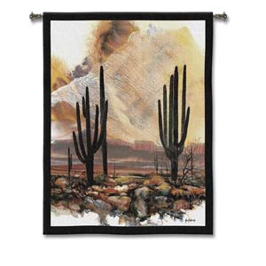 Sonoran Sentinels Woven Wall Tapestry
