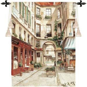 Promenade A Paris I Tapestry Wall Hanging