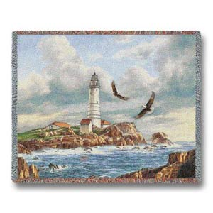 Boston Lighthouse Throw