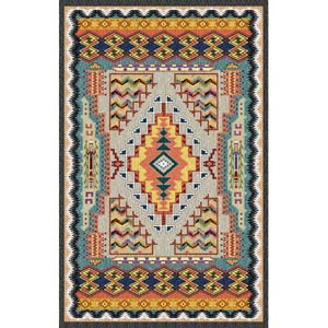 Southwest Turquoise Tapestry Wall Hanging