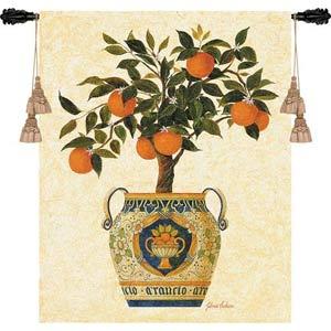 Italian Orange Tree Tapestry Wall Hanging