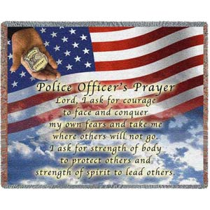 Police Officers Prayer Throw