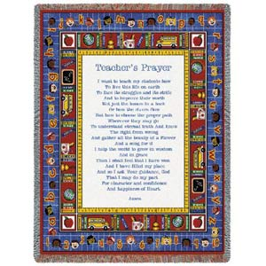 Teachers Prayer Throw