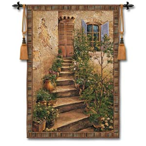 Tuscan Villa II Mid Woven Wall Tapestry
