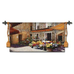 Flower Shop Woven Wall Tapestry