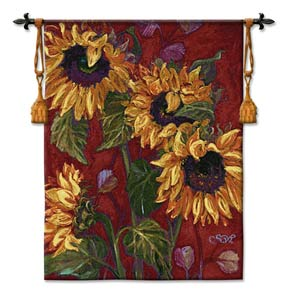 Sunflowers II Woven Wall Tapestry
