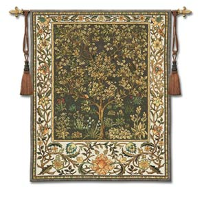 Tree Of Life Umber Small Woven Wall Tapestry