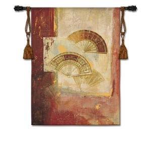 Fan Abstract Woven Wall Tapestry