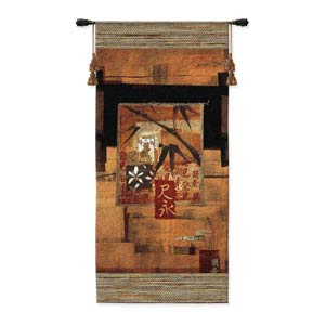 Bamboo Inspirations II Woven Wall Tapestry