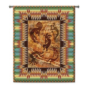 Southwest Ancient Ones Burst Woven Wall Tapestry