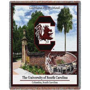 Univ of South Carolina Collage Throw