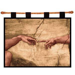 Creation Adam Wall Tapestry