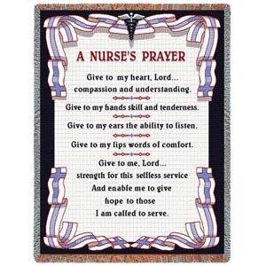 A Nurses Prayer Throw