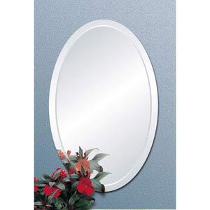Uniform Bevel Oval Mirror