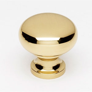 Polished Brass 7/8-Inch Knob