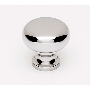 Polished Chrome Brass 7/8-Inch Knob