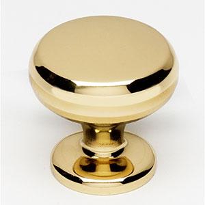 Polished Brass 1 1/8-Inch Knob