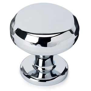 Polished Chrome Brass 1 1/4-Inch Knob