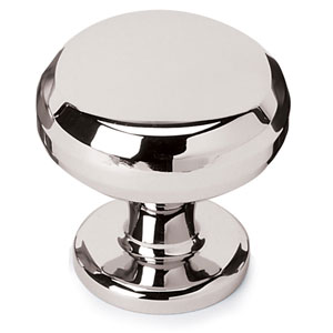 Polished Nickel Brass 1 1/4-Inch Knob