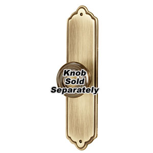 Antique English Brass 4-Inch Escutcheon