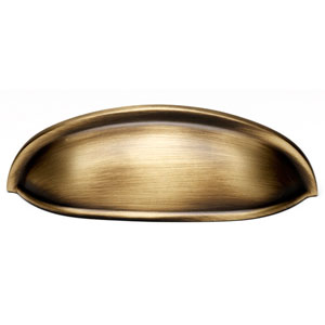 Antique English Matte Brass 3-Inch Cup Pull