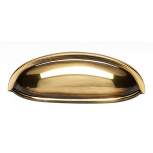 Polished Antique Brass 3-Inch Cup Pull
