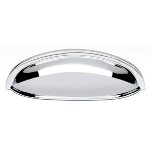 Polished Chrome Brass 3-Inch Cup Pull