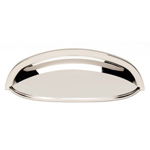 Polished Nickel Brass 3-Inch Cup Pull