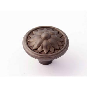Fiore Chocolate Bronze 1 1/2-Inch Knob