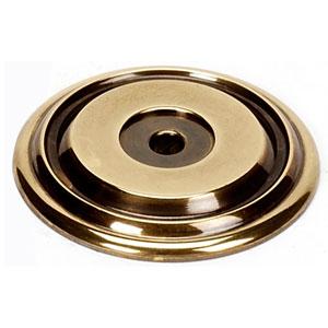 Polished Antique Brass 1 3/8-Inch Rosette