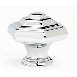 Geometric Polished Chrome Knob