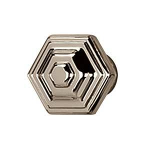 Geometric Polished Nickel Knob