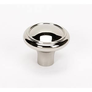 Classic Traditional Polished Nickel 1 1/2-Inch Knob