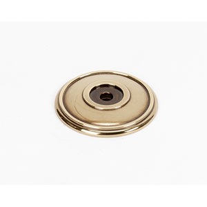 Polished Antique Brass 1 3/8-Inch Rosette