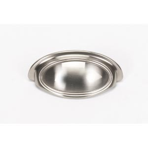 Classic Traditional Satin Nickel 3-Inch Cup Pull