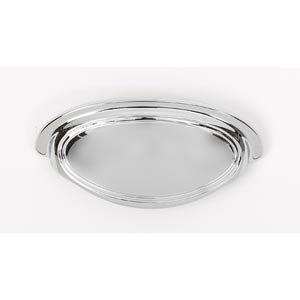 Classic Traditional Polished Chrome 3 1/2-Inch Cup Pull