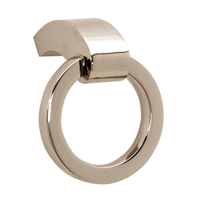 Circa Polished Nickel 1.5-Inch Ring Pull
