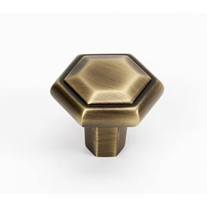 Nicole Antique English Matte 1 1/4-Inch Knob
