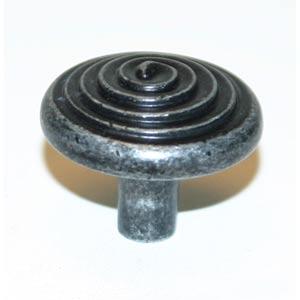 Eclectic Dark Iron 1 1/4-Inch Spiral Knob