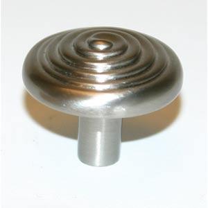 Eclectic Satin Nickel 1 1/4-Inch Spiral Knob