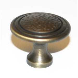 Eclectic Antique English Matte 1 1/2-Inch Pitted Center Knob