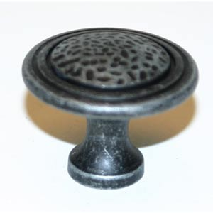 Eclectic Dark Iron 1 1/2-Inch Pitted Center Knob