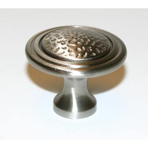 Eclectic Polished Chrome 1 1/2-Inch Pitted Center Knob