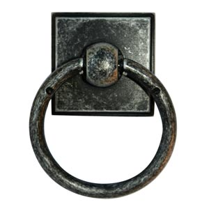 Eclectic Distressed Nickel Ring Pull